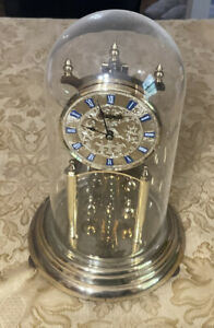 VINTAGE WELBY WEST GERMANY ANNIVERSARY CLOCK WITH PLASTIC DOME  Wind Up No Key