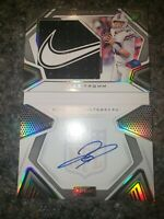 2020 Panini Playbook Rookie Nike Swoosh Patch Auto Jake Fromm /5 RPA Booklet 205