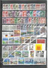 Gestempelte ungeprüfte Briefmarken aus der BRD (1980-1989) Sammlungen