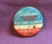 *Vintage Advertising Fishing Tin CORTLAND 333 FLY LINE CLEANER Cortland New York