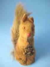 Vintage Original Fur Toy Squirrel Made in West Germany