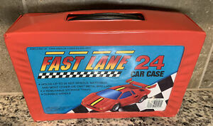 Vintage 1990 Fast Lane 24 Car Collectors Carrying Case Red