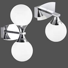 Wandlampe Wandleuchte Glas Chrom Wohn-Schlaf-Zimmer Bad Flur Wand Lampe Leuchte