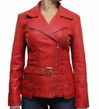 Trench Ladies Coat Jacket Overcoat Winter Long Size Womens Biker Usa Warm Red