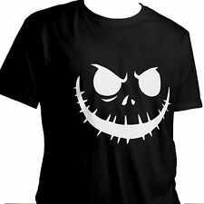 Jack Skellington Halloween Nightmare Before Christmas Unisex Cotton T-Shirt XL
