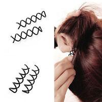 10x Hair Twist Spiral Clip Pins Spin Wedding Bridal Barrette Accessories Pin