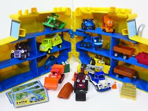 BOB the BUILDER Take Along Diecast Vehicle Lot + Case Lofty Dizzy Roley Magnetic