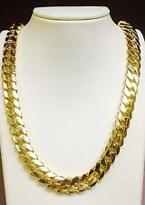 "14k Solid Gold Miami Cuban Curb Link 28"" 13.5 mm 350 grams chain/Necklace"