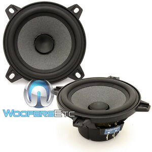 """FOCAL CAR AUDIO POLYGLASS 4"""" MIDRANGE FROM ISN100 COMPONENT SPEAKERS PAIR NEW"""