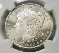 1880 S Silver Morgan Dollar NGC MS 65 Star Deep Mirrors PL Graded Coin