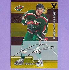 MARIAN GABORIK Auto 2001/02 BAP Signature Serie GOLD #084 Minnesota Wild Final V