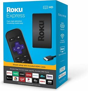 Roku Express HD Streaming Media Player 2019 - Black