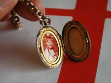 Vintage 14 Inches Gold Filled Pocket Watch Chain w/ Photo Case