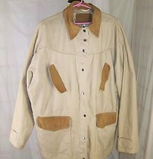 Carroll Original Wear Tan Barn Chore Work Coat Women's 4XL XXXXL Leather Trim