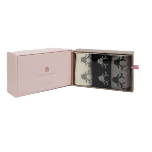 Ted Baker JAMMIKE Reindeer Cotton Sock Boxed Gift Set of  3 Pairs