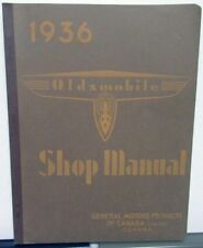 1936 Oldsmobile Canadian Dealer Service Shop Manual Repair Six & Eight F36 L36