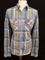 Superdry - Women's Lumberjack Twill Shirt - Size M - Blue / Yellow - Cotton