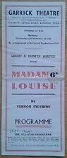 Madame Louise programme Garrick Theatre 1945 Robertson Hare Alfred Drayton