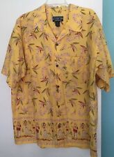 Pataloha Patagonia Hawaiian Shirt Men's Size XL Hula Girl Ukulele
