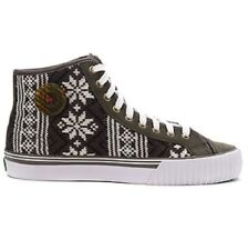 PF Flyers Center Hi High Top Wool Shoes Mens 7 Women 8.5 Holiday Snowflake Sweat
