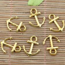 32pcs gold tone anchor charms for bracelet Diy making EF2427