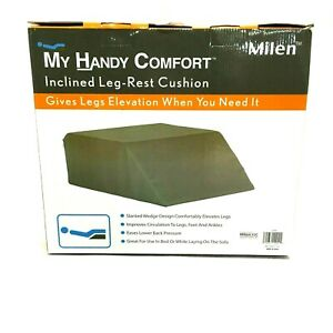 My Handy Comfort Inclined Leg-Rest Cushion Black Wedge L200