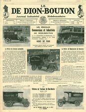 Publicité ancienne automobile De Dion-Bouton 1908 issue de magazine
