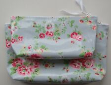 LARGE only Make Up Bag made with Cath Kidston Spray Blue Oil Cloth
