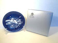 1972 Georg Jensen Danish Porcelain Doves Christmas Plate 1st Edition Orig Box