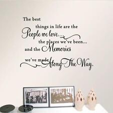 The Best Things In Life ~ Love Memories Wall Quote Home Art Decal Vinyl Sticker