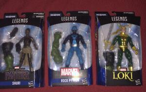 MARVEL LEGENDS BLACK PANTHER SHURI Loki Rock Python Action Figures BAF Hulk New