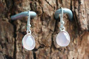 Rose Quartz Earrings Gemstone Earrings in Fine Sterling Silver 925