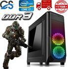Fast Gaming Computer Pc Intel Core I7 8gb 120gb Ssd Windows 10 2gb Gt710 Rgb