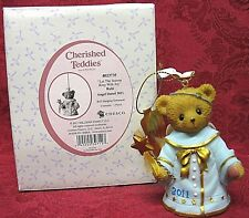 CHERISHED TEDDIES 2011~DATED ORNAMENT BELL~RUBI~ITEM # 4023735