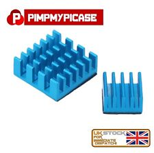 2pcs Blue Heatsink Aluminium with 3M Thermal Adhesive Pads for Raspberry Pi