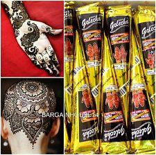 2 X Black Body Art Fast Color Golecha Henna Mehandi Tattoo Cones + Fast Post Uk