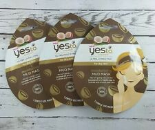 YES TO Coconut Ultra Hydrating Moisturizing MUD MASK Kaolin Clay  -LOT OF 3