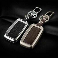 Metallic Smart Remote Key Fob Shell Leather Button Case Cover For Land Rover