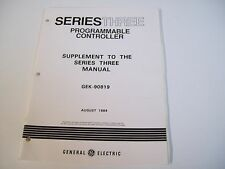 Ge Fanuc Gek-90819 Supplement To The Series 3 Manual - Used - Free Shipping