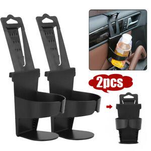 2x Car Interior Cup Holder Case Drink Bottle Door Mount Standing Accessories