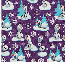 FROZEN OLAF SNOWMAN GIFT WRAP WRAPPING PAPER ROLL CHRISTMAS HOLIDAY 20 SQ. FT