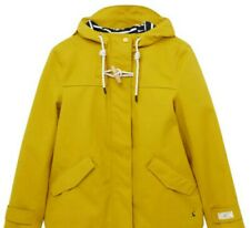 Joules Coat New Coast Jacket Yellow UK12 Antique Gold RRP £109 Waterproof Cotton