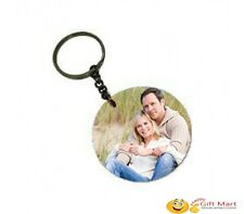 Circle Shape Wooden Key Chain Personalized with Photo Keychain Birthday Gift