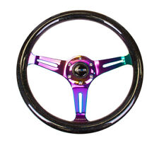 NRG Classic Wood Grain Steering Wheel (350mm) Black Sparkle/Galaxy Color w/Neoch