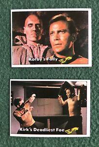 Lot of 2 Star Trek The Original Series Topps Trading Cards 1976 bubble gum 84 33