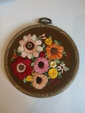 4 Inch Floral Embroidery Wall Hanging