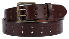 Dark Brown Leather Belt with a Lifetime Warranty. Double prong Made in the USA
