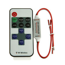 RF Wireless Remote Control Dimmer Connector For 5050 3528 Single Color LED Strip