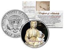 MICHELANGELO *MADONNA AND CHILD* Christ Statue Sculpture JFK Half Dollar US Coin
