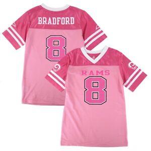 Sam Bradford NFL Los Angeles Rams Mid Tier Fashion Jersey Girls Youth (7-16)
